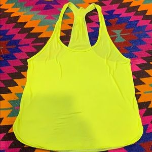 LULULEMON bright yellow tank